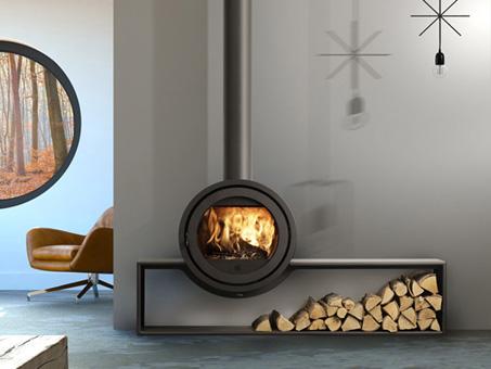 poêle à bois ODIN FRONT de chez Fonte Flamme